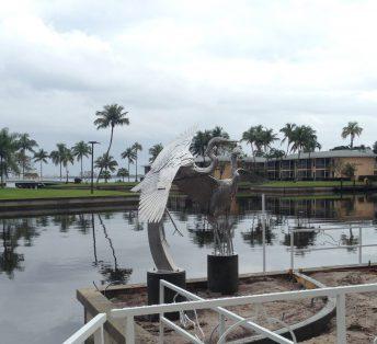 stainless steel bird sculptures