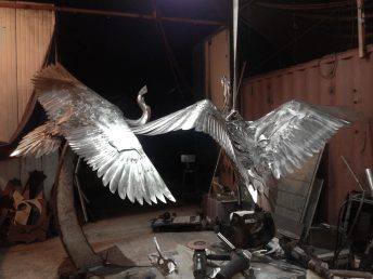 metal bird art custom made