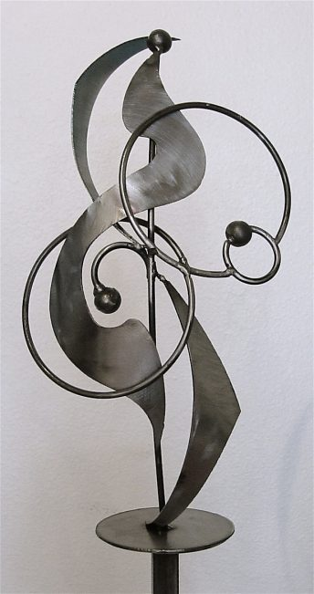 metal abstract sculpture model public art