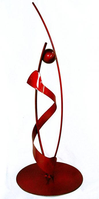red abstract sculpture doug hays brenda heim