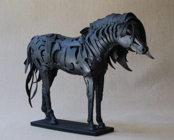 metal horse sculpture study