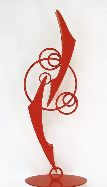 abstract red sculpture