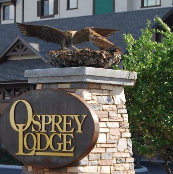 bird sculpture osprey nest