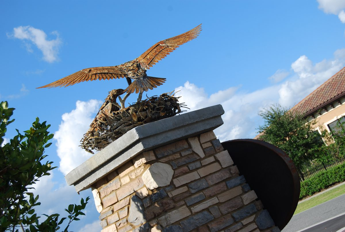 bird-sculpture-osprey-public-art-doug-hays-Florida-artist