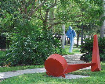 contemporary red public art doug hays