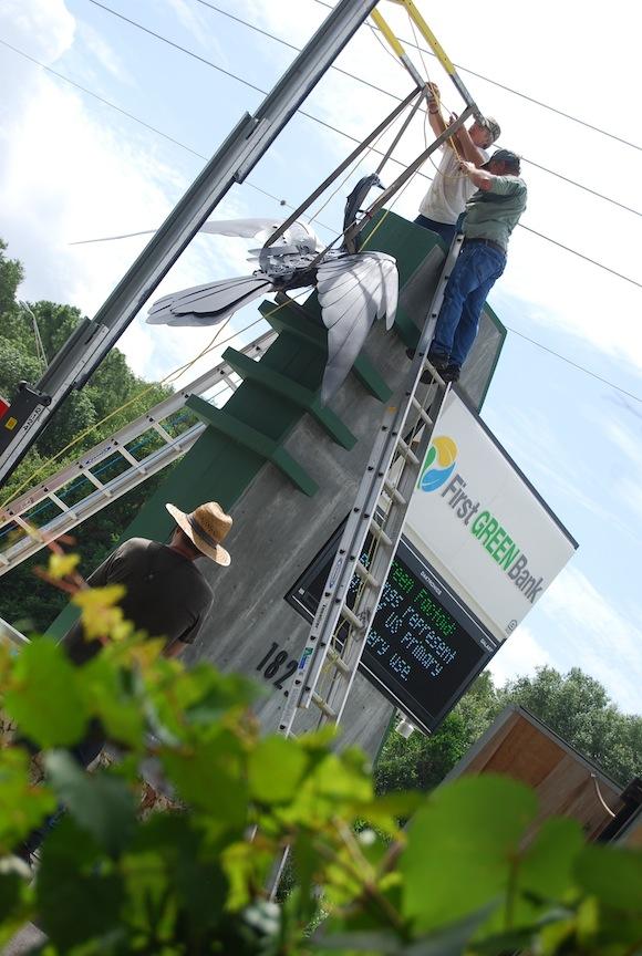 Corporate Art Anhinga Bird Sculpture First Green Bank Florida