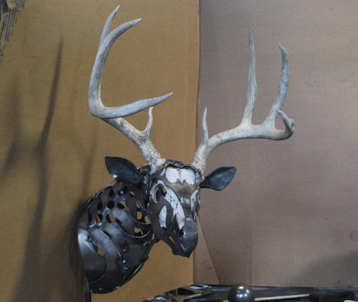 deer antlers metal sculpture doug hays