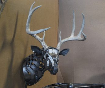 deer antlers sculpture