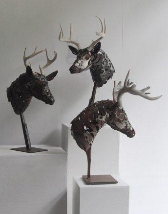 deer metal sculptures