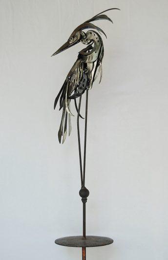 heron sculpture maquette eustis florida