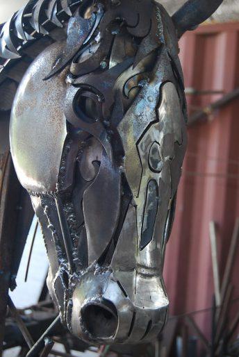 horse sculpture commission