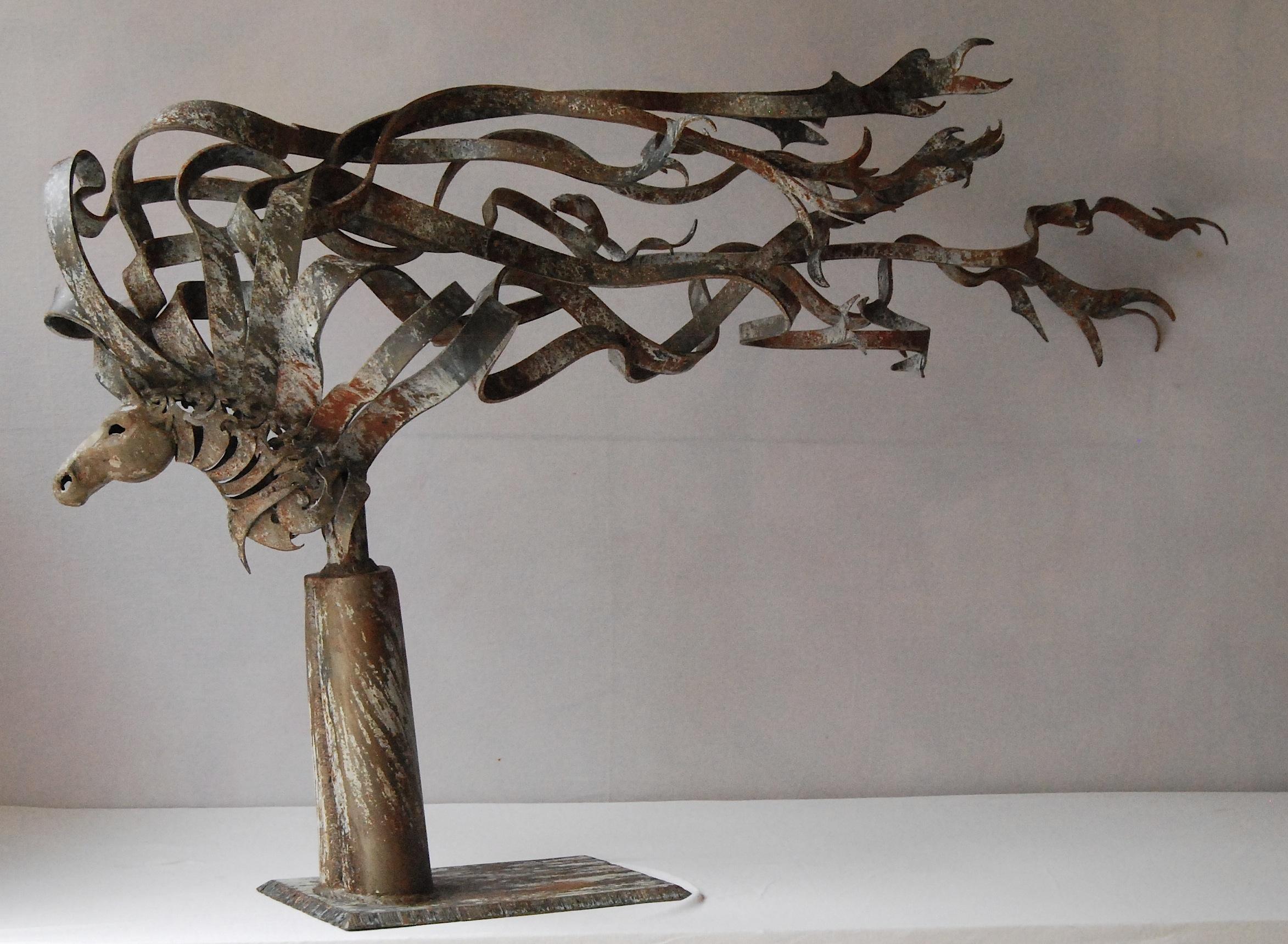 Metal horse art sculpture by florida artist doug hays