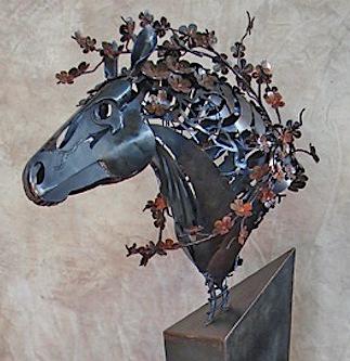 horse statue metal art