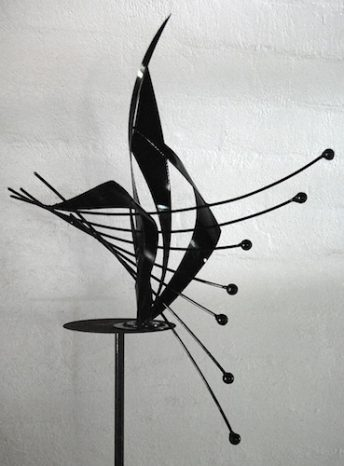metal abstract sculpture public art