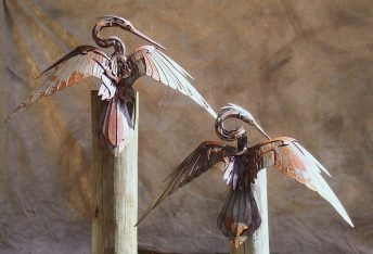 metal bird sculpture florida
