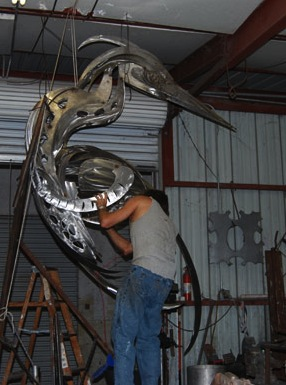 metal bird sculpture how to build