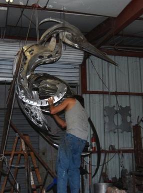 metal bird sculpture how to build