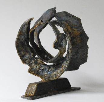 metal circle sculpture