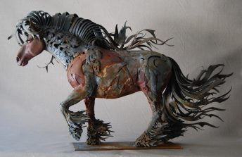 gypsy vanner horse sculpture
