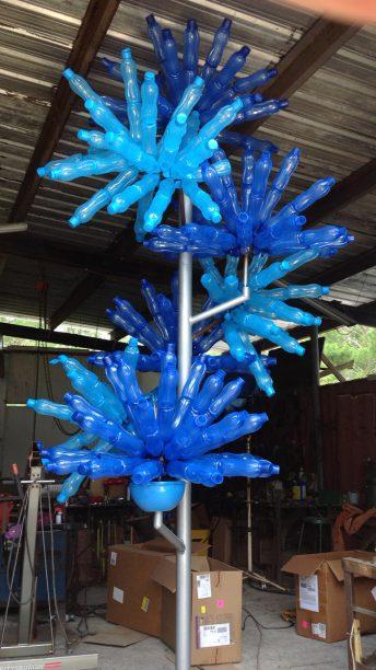 modern art sculpture blue