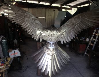 osprey sculpture large scale progress photo