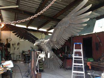 osprey sculpture process photo