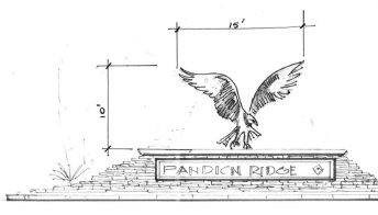 osprey sculpture illustration pandion ridge