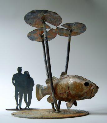 largemouth bass sculpture palatka florida public art