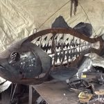 how to build large metal fish sculpture