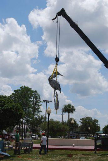 public art bird sculpture florida