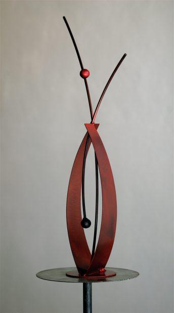 red sculpture doug hays brenda heim hospital corporate art