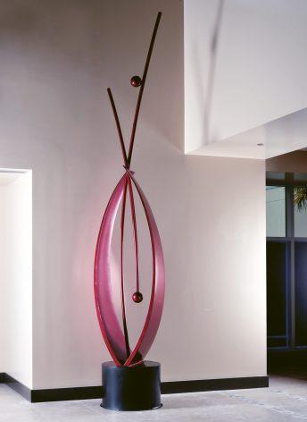 abstract red sculpture corporate art doug hays and brenda heim florida artists